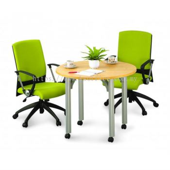 Round Discussion Table (Model:Pole Leg)
