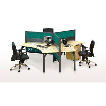 Team Workstation 03 (UA Pole System: Desking Panel)