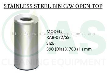 STAINLESS STEEL BIN C/W OPEN TOP