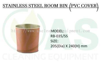 STAINLESS STEEL ROOM BIN (PVC COVER)