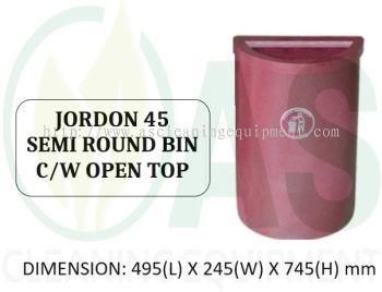 JORDON 45 SEMI ROUND BIN C/W OPEN TOP