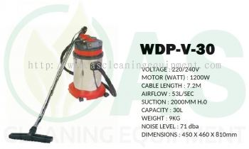 30L Wet and Dry Vacuum Cleaner (STAINLESS STEEL)