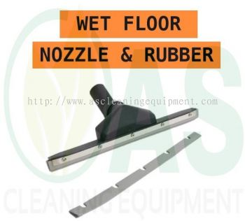 Wet Floor Nozzle and Rubber
