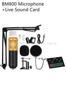 BM800 Microphone + Live Ready SoundCard