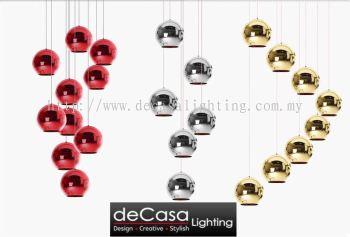 High Ceiling Modern Chrome Pendant Light