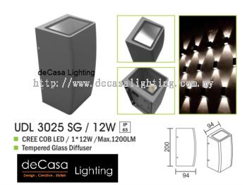 OUTDOOR WALL LIGHT UDL 3025 SG 12W