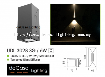 OUTDOOR WALL LIGHT UDL 3028 SG 6W