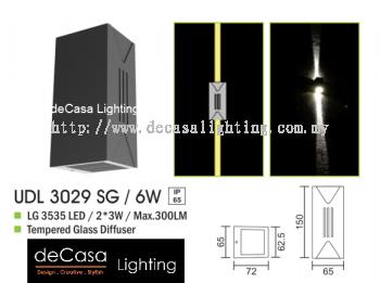 OUTDOOR WALL LIGHT UDL 3029 SG 6W