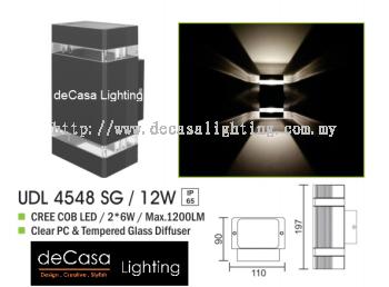 OUTDOOR WALL LIGHT UDL 4548 SG 12W