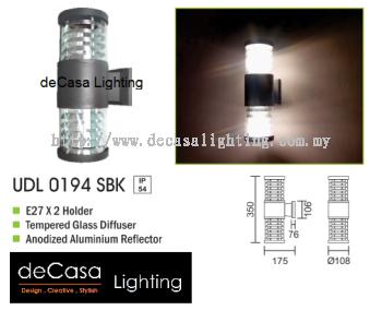 OUTDOOR WALL LIGHT UDL 0194 SBK E27