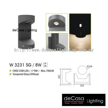 OUTDOOR WALL LIGHT W 3231 SG 8W
