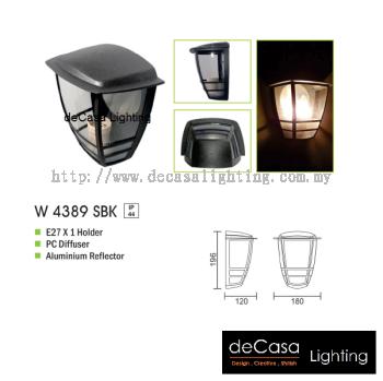 OUTDOOR WALL LIGHT W 4389 SBK E27
