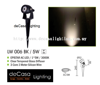 OUTDOOR SPIKE LIGHT LW 006 BK 5W