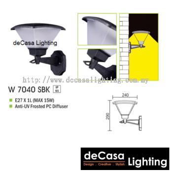 OUTDOOR WALL LIGHT W 7040 SBK E27