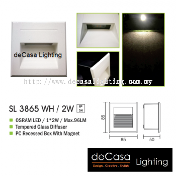 OUTDOOR LIGHT SL 3865 WH 2W