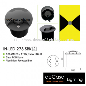 OUTDOOR LIGHT IN-LED 278 SBK