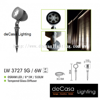 OUTDOOR SPIKE LIGHT LW 3727 SG 6W