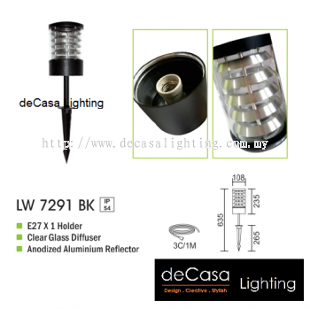 OUTDOOR SPIKE LIGHT LW 7291 BK