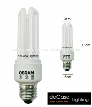 OSRAM ENERGY SAVING BULB - PLC - WARM WHITE (840)
