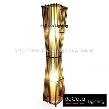 RATTAN FLOOR LAMP CLASSIC DESIGN