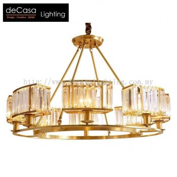 MODERN GLASS PENDANT LIGHT GOLD