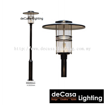 WQ9017 OUTDOOR GARDEN POLE LIGHT