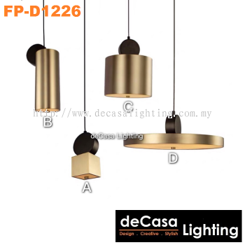 Designer LED Pendant light - FP-D1226 (A/B/C/D)