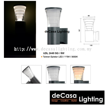 LED OUTDOOR WALL LIGHT UDL-2448 SG/5W