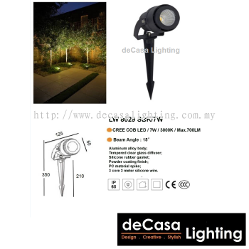 OUTDOOR LED SPIKE LIGHT LW-8029-SBK-7W