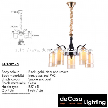 Contemporary Chandelier Pendant Light (JA9887-5)