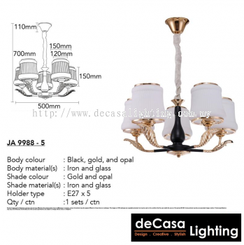 Contemporary Chandelier Pendant Light (JA9988-5)