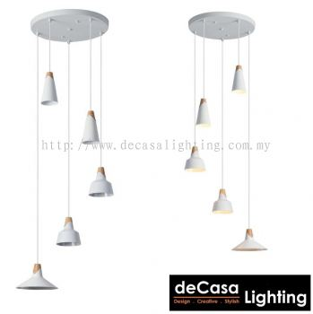 Pendant Light (ZF6553-5-WH)