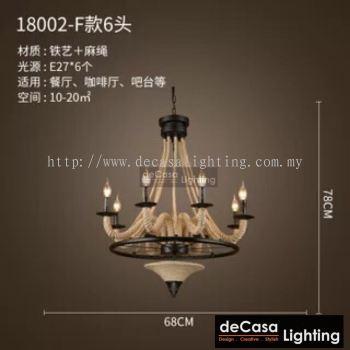 Loft Retro Pendant Light - Rope Light