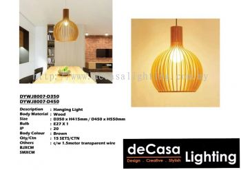 Wooden Pendant Ceiling Light (DYWJ8007-D350) (DYWJ8007-D450)