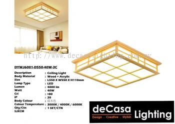 Wooden Pendant Ceiling Light (DYWJ6001-D550-40W-3C)
