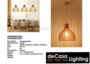 Wooden Pendant Ceiling Light (DYWJ8086-D350) (DYWJ8086-D450)