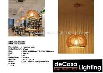 Wooden Pendant Ceiling Light (DYWJ8008-D330) (DYWJ8008-D450)