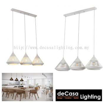 PENDANT LIGHT (LY9016-3LB-WH)