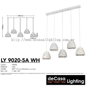PENDANT LIGHT (LY9020-5LB-WH)