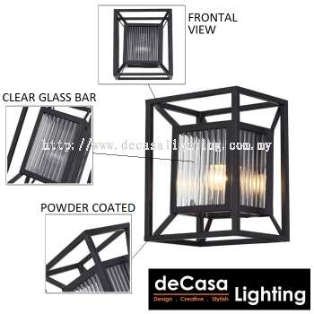 Outdoor Wall Light (2380-BK)