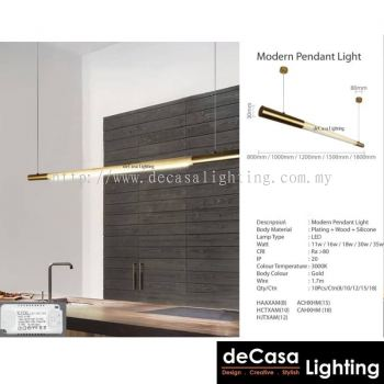 Designer Pendant Light - Gold Series