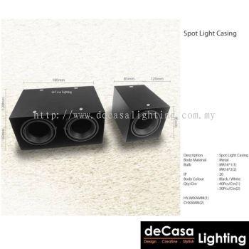 Spotlight Casing - Black (1/2/3 Head)