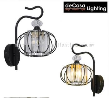 WALL LIGHT WITH CRYSTAL GLASS