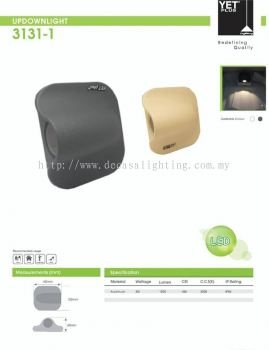 YET outdoor wall light 3W (grey only)