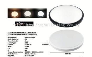 LED CEILING LIGHT. SIZE 490MM. 3000K/4000K/65000K