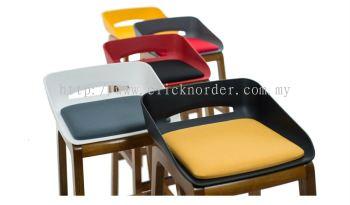 Timber Bar Stool c/w Seating Pad