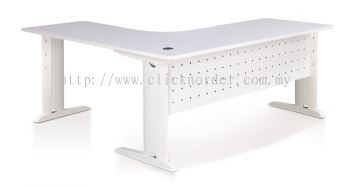 1009 L-Shape Table (Solid Color Top)