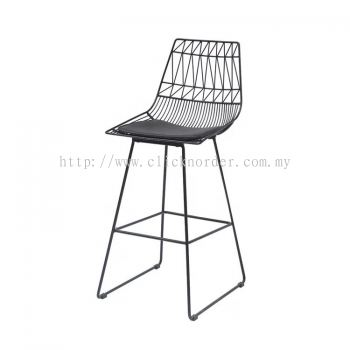 Steely High Bar Chair