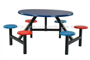C 2 - Curve Table With 6 Seater Bench