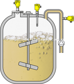 Level, switching and pressure measurement in storage tanks